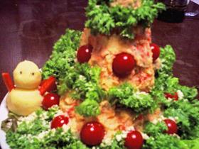 ☆クリスマスに♪デコレーションポテサラ☆