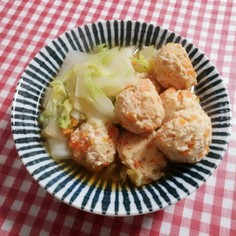 あったか♡白菜と鶏団子の生姜煮