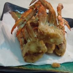 渡り蟹の唐揚げ☺カレー塩で