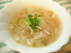 コロコロ大根とザーサイのスープ