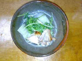 鶏肉と白菜のにんにく鍋