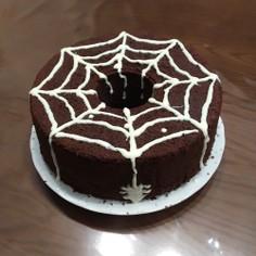 ハロウィン チョコアシフォンケーキ