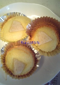 カルピスfeaut.梨によるカップケーキ