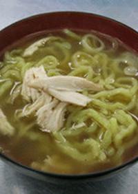 ダッチオーブンで鶏+豚骨スープ・ラーメン