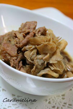 豚肉と舞茸のごま風味こってり煮