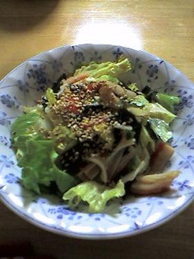 レタスとわかめの中華風サラダ