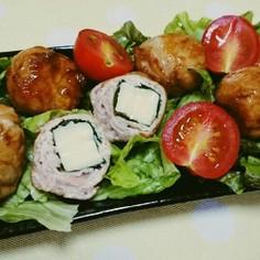チーズ入りのコロコロ豚肉ボール♪