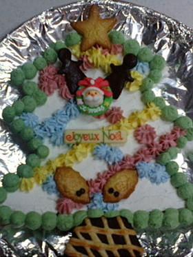 ♪ツリー型クリスマスケーキ♪
