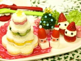 クリスマス★ツリーサンドイッチ