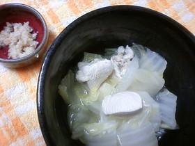 白菜と鶏肉のお鍋