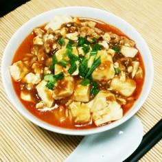 辛ラーメンでピリ辛✨麻婆麺✨