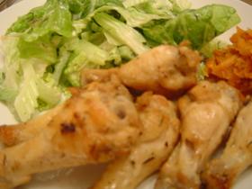 チキンマリネのフライパン焼き