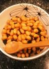 圧力鍋で簡単!時短!蒸した大豆の煮豆
