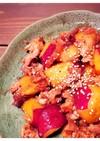 豚肉とサツマイモの甘辛炒め
