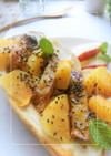 大学芋×柿の蜂蜜クリチトースト