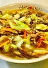ひき肉と野菜のあんかけラーメン
