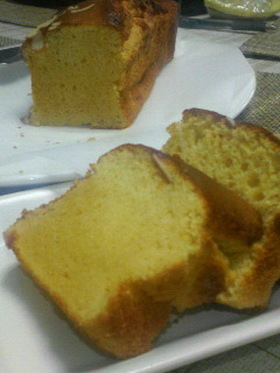 橙と焦がしバターのふんわりパウンドケーキ