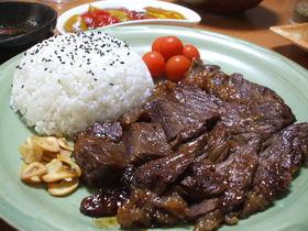 牛肉の味噌漬けステーキ (白飯必須)