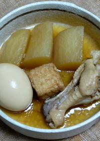 圧力鍋で、大根と鶏手羽元の煮込み