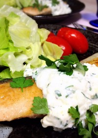 鮭のムニエル クリームチーズソース