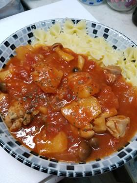 チキンとじゃがいものトマト煮