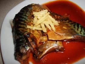 鯖の韓国チックな味噌煮