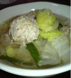 母の味☆具だくさんの鶏団子スープ