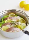 鯛とキャベツのレモン蒸し