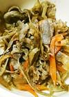 牛切り落とし肉とごぼうの炒め煮