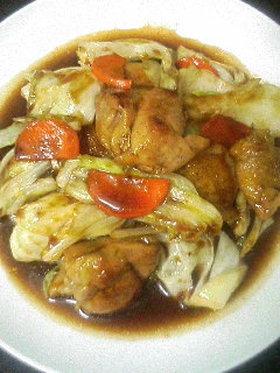 もも肉とキャベツの中華炒め