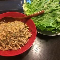 中華ひき肉のレタス包み