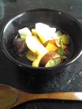 野菜いっぱい炊飯器でスープ