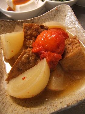 かぶとトマトと厚揚げの簡単煮
