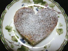 ★牛乳パック型deハートのホットケーキ♪