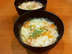 人参と卵のコンソメスープ