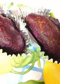 紫イモであっさりスイートポテト