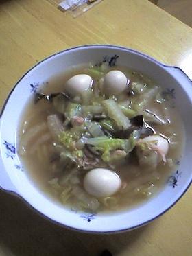 あったまる白菜と桜えびのスープ