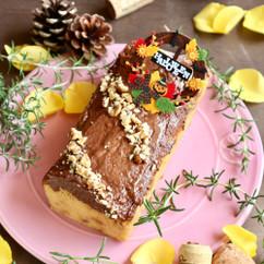 さつま芋のアーモンドチョコケーキ