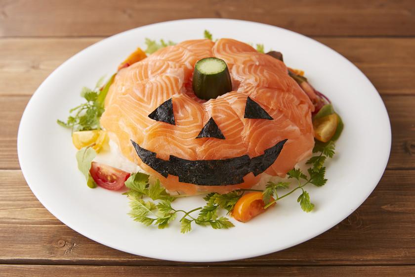 ハロウィンのカンタンケーキすし