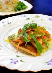 白身魚・野菜あんかけ、時短料理