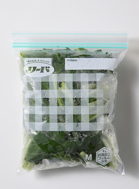冷凍保存 カット小松菜