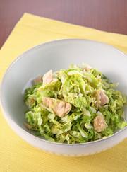 白菜の和風ツナサラダの写真