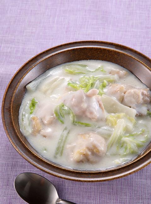 鶏肉と白菜の和風クリーム煮