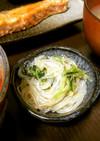 簡単!副菜、お弁当◎梅と水菜の春雨サラダ