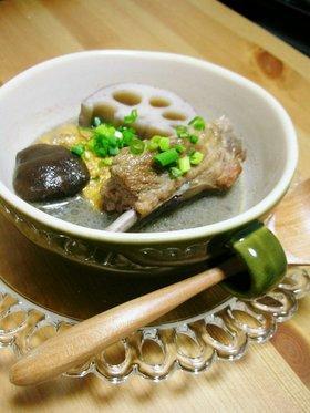 スペアリブと厚揚げのスープ