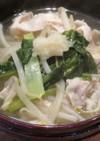 豚肉ともやしの和風スープ