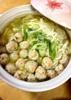 つくね団子と白菜の鍋