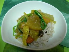 壬生菜と根菜の和カレー