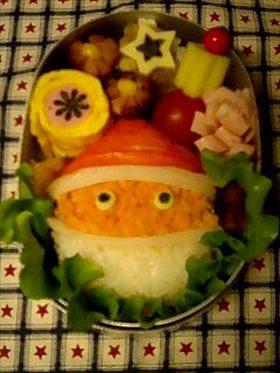 クリスマス★サンタべんとう(キャラ弁)
