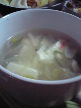 簡単あったかかにかまスープ
